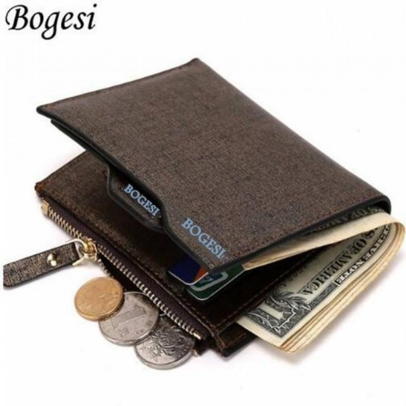 Bogesi Men Gold Artificial Leather Wallet