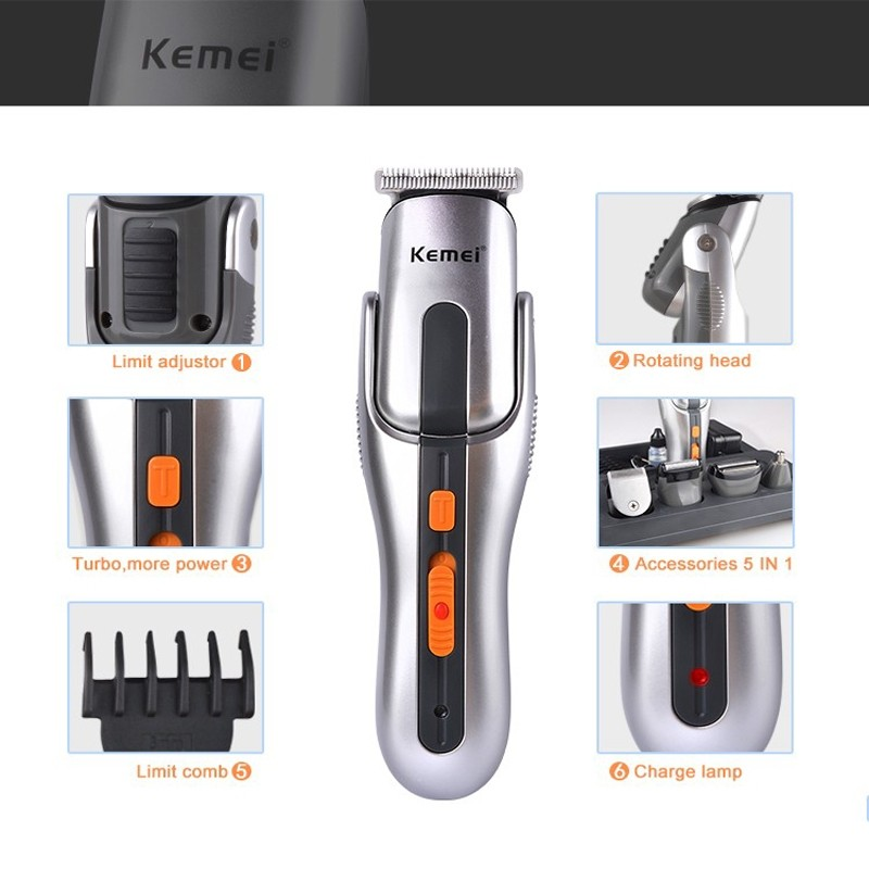 Kemei 680 - Electric Rechargeable Trimmer for Men