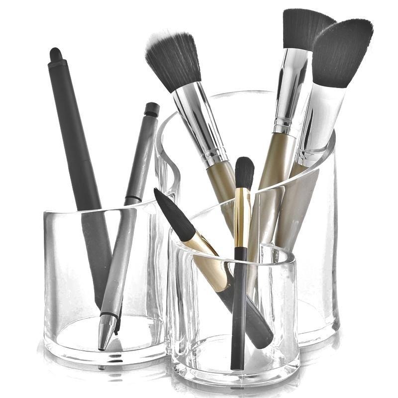 Cosmetic organizer for brush