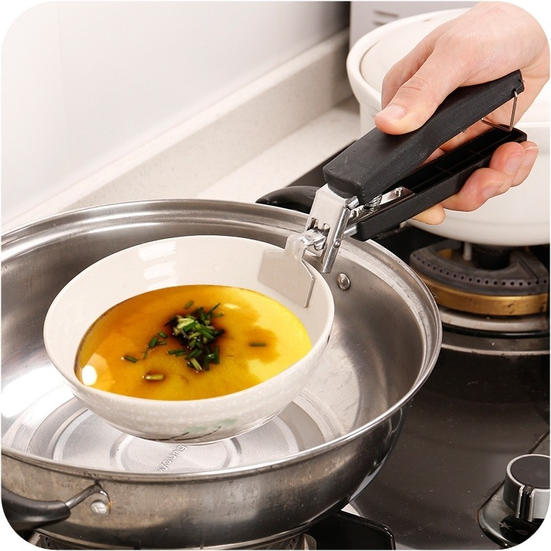 Heat Get Hot Bowl Stainless Steel Clamp Plate Holder