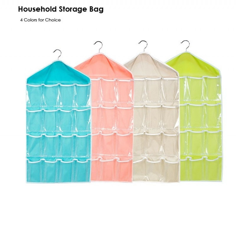Wall Mounted 16 Grid Storage Bag