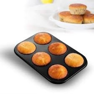 6 GRID MUFFIN CAKE MOULD