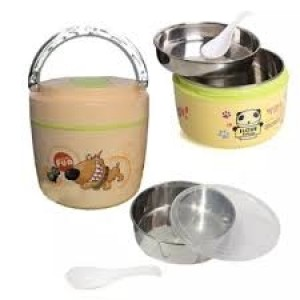 QQ Lunch Box Stainless Steel Inside 1000ml Tiffin Box