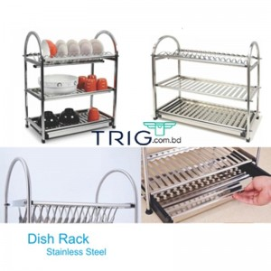 3 Layer Kitchen Dish Rack - Silver