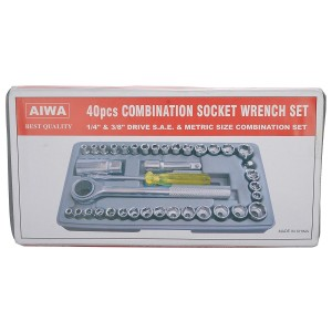 Aiwa 40 In 1 Pcs Wrench Tool Kit & Screwdriver And Socket Set