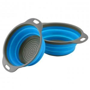 Foldable Home Kitchen  Strainer Fruit Vegetable Drain Basket Filter