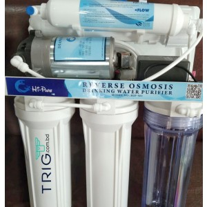 'Hi-Pure' 5 Stage 75GPD Reverse Osmosis Drinking Water Purifier.