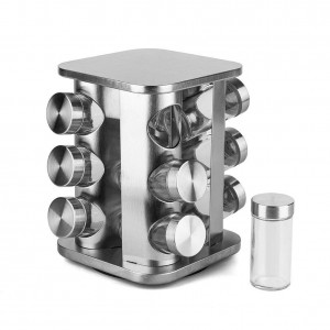 Spice Jar 12 Piece (Steel)