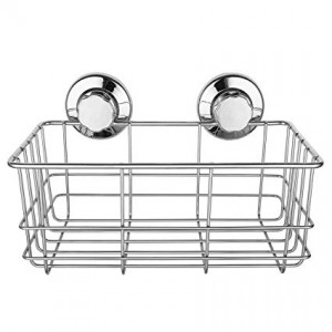Stainless Steel Shower Caddy with Strong Suction Cups