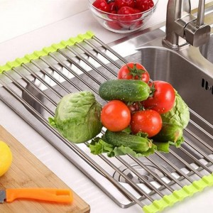 Lengthen Foldable Stainless Steel Drain Rack