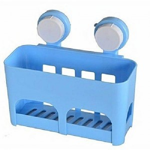 Multi Functional Drained Storage Shelf With Suction Cup
