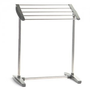 Stainless Steel and Plastic Cloth Rack Holder