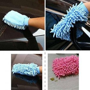 Microfiber Warp Cleaning Cloth Chenille Glove