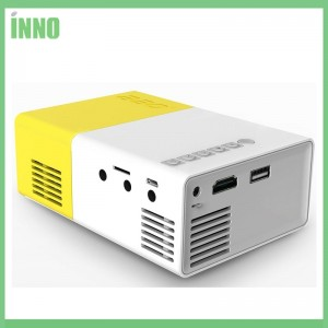 Y300 LED Portable mini Projector Home Media Player