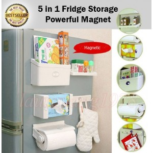 5 in 1 New Feeling Fridge Shelf Storage Set Organizer
