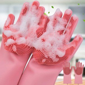 Magic Silicone Dish Washing Kitchen Hand Gloves