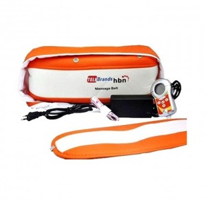Massage Slimming Belt - White and Orange