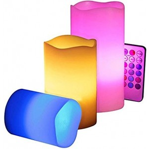 Colour Changing LED Luma Candles With Remote Control