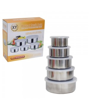 High Quality Stainless Steel Food Box- 5 Pieces