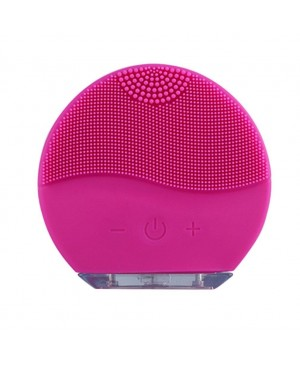 Ultrasonic Silicone Waterproof Vibration Face Massager & Cleansing Brush